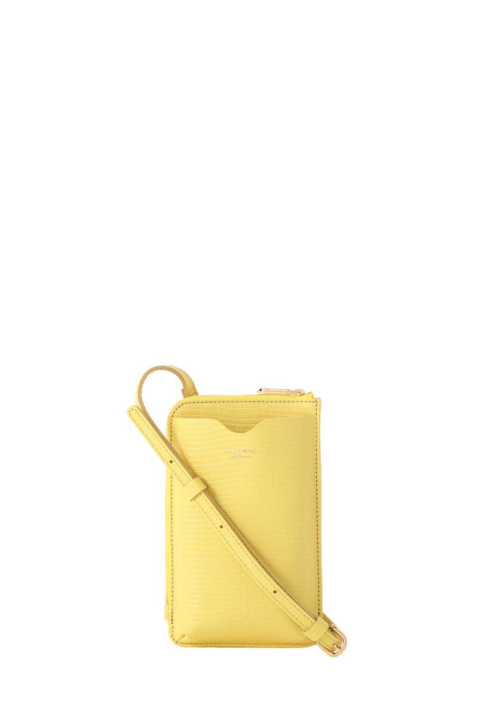 リザード型押しスマートフォンポシェット citrus - #1