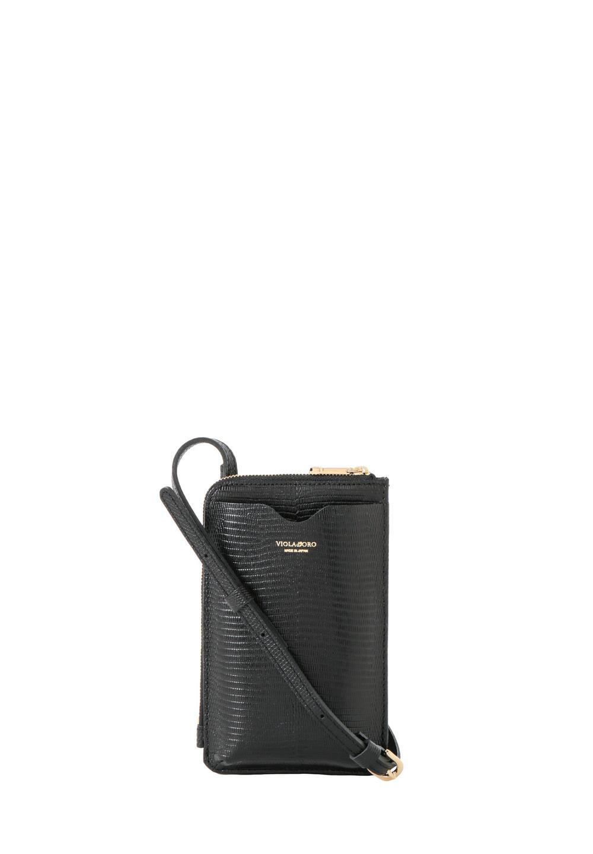 リザード型押しスマートフォンポシェット black - #1