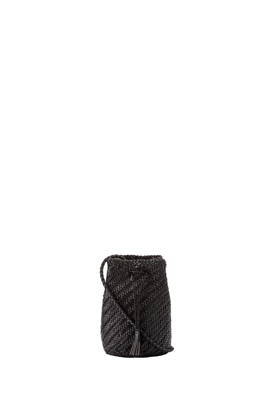 レザーメッシュ巾着 black - #1