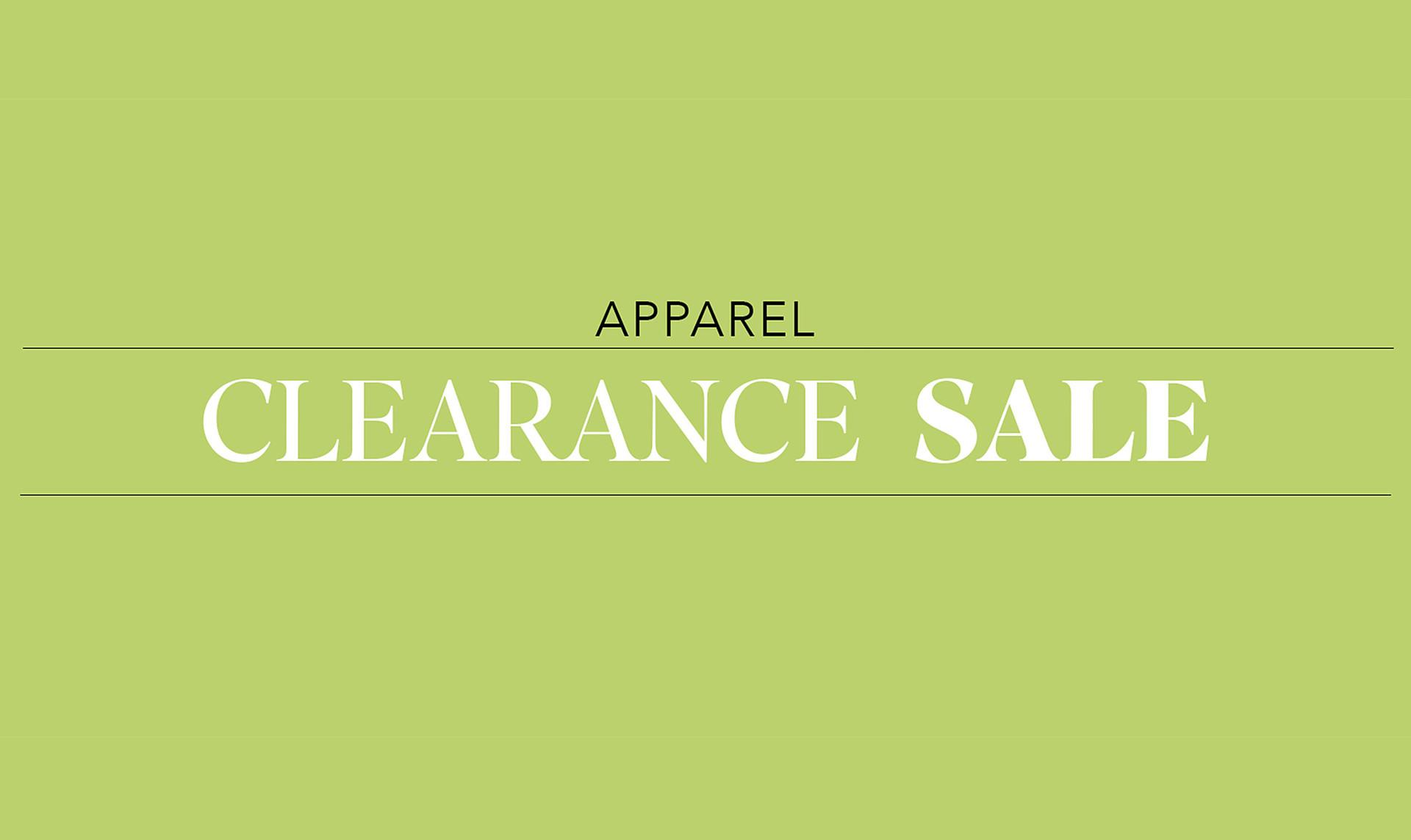 Clearance : Apparel
