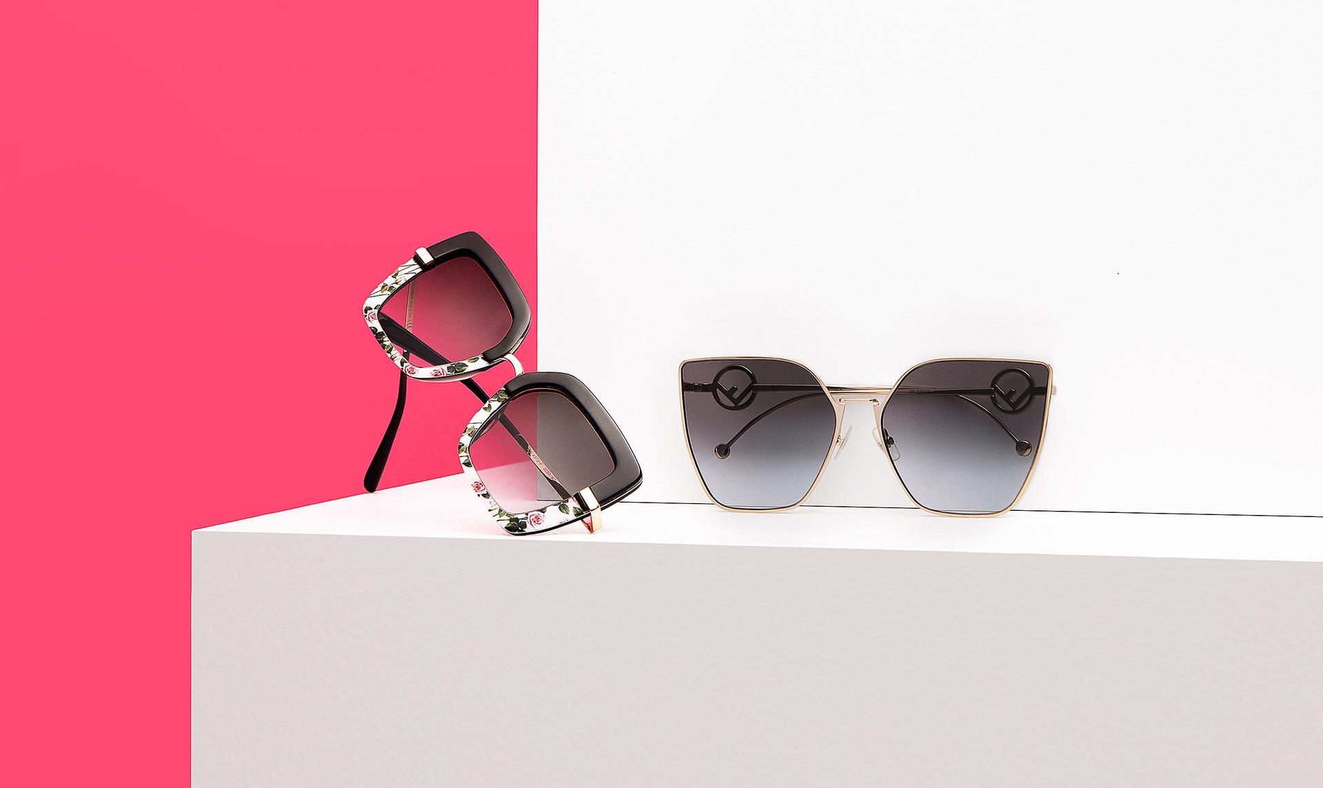 Luxury sunglass selection